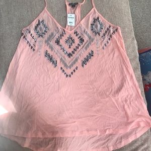 Pink express tank Top with detail
